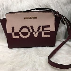 Michael Kors Love Crossbody Leather Bag